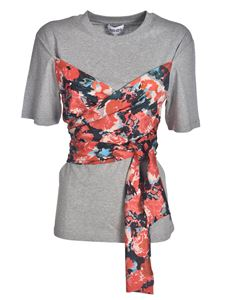 Kenzo - Floral drapery T-shirt in grey