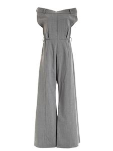 Moschino - Gabardine jumpsuit in grey