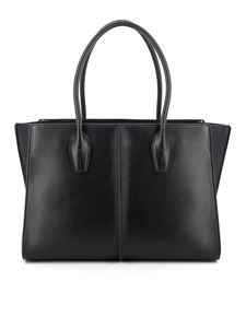 Tod's - Lee medium smooth leather tote in black