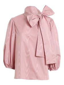 Red Valentino - Faille moiré blouse in pink