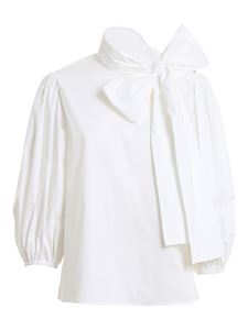 Red Valentino - Knotted bow tie blouse in white