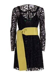 Red Valentino - Leo Panther patterned dress in black