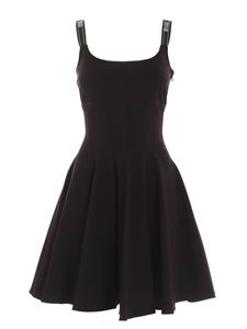 Versace Jeans Couture - Branded straps dress in black
