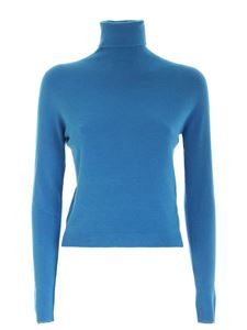 Ermanno by Ermanno Scervino - Crop fit turtleneck in turquoise