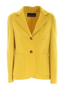 Ermanno by Ermanno Scervino - Wool single-breasted jacket in yellow