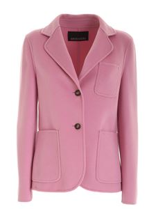Ermanno by Ermanno Scervino - Wool single-breasted jacket in pink