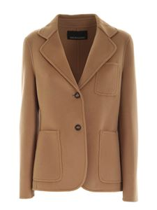 Ermanno by Ermanno Scervino - Wool single-breasted jacket in camel color