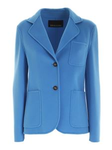 Ermanno by Ermanno Scervino - SWool single-breasted jacket in turquoise