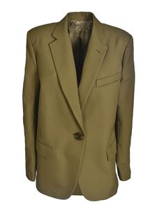 The Attico - Bianca jacket in military green