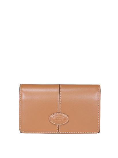 Tod's - Logo patch wallet in brown