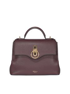 Mulberry - Seaton mini hammered leather bag in burgundy