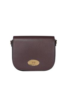Mulberry - Darley small grainy leather bag in burgundy