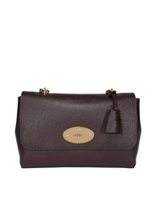 Mulberry - Lily medium leather bag in burgundy
