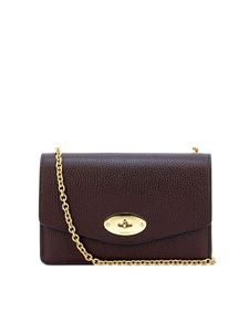 Mulberry - Small Darley leather bag in burgundy