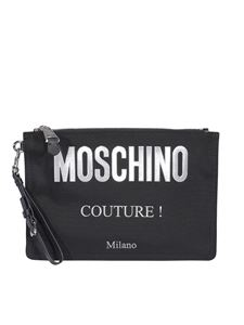 Moschino - Leather clutch in black