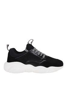 Moschino - Sneakers in pelle e mesh nere