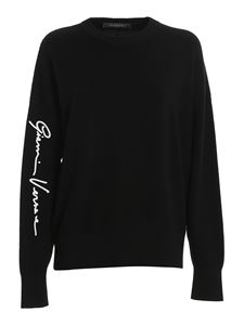 Versace - Pullover in black with contrasting logo