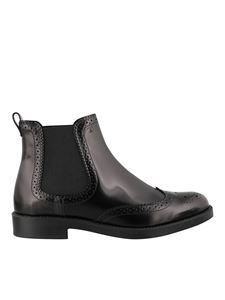 Tod's - Brogue detailed Chelsea boots in black