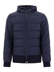 Herno - Blue down jacket with hood