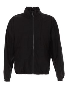 Marcelo Burlon County Of Milan - Black jacket in coated cotton