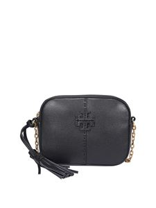 Tory Burch - Mcgraw hammered leather camera bag in black
