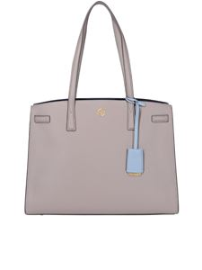 Tory Burch - Walker hammered leather tote in grey