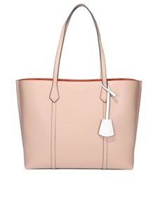 Tory Burch - Perry hammered leather tote in pink