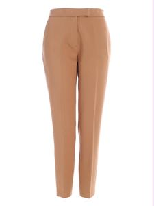 Clips - Cigarette pants in camel color
