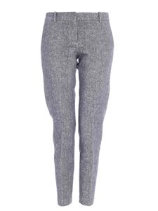 Circolo 1901 - Slash side pockets pants in melange grey