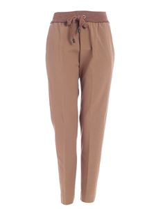 Le Tricot Perugia - Brown pants featuring knitted detail