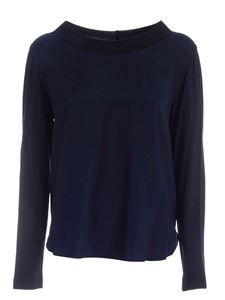 Le Tricot Perugia - Silk T-shirt in blue