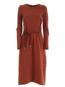 Le Tricot Perugia - Long-sleeved dress in brown