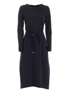 Le Tricot Perugia - Long-sleeved dress in blue