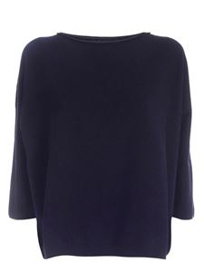 Le Tricot Perugia - Loose fit pullover in blue