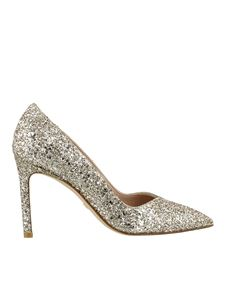 Stuart Weitzman - Anny glitter pumps in gold color