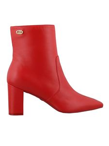Stuart Weitzman - Linaria 75 leather ankle boots in red