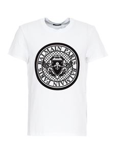 Balmain - Logo printed T-shirt in white