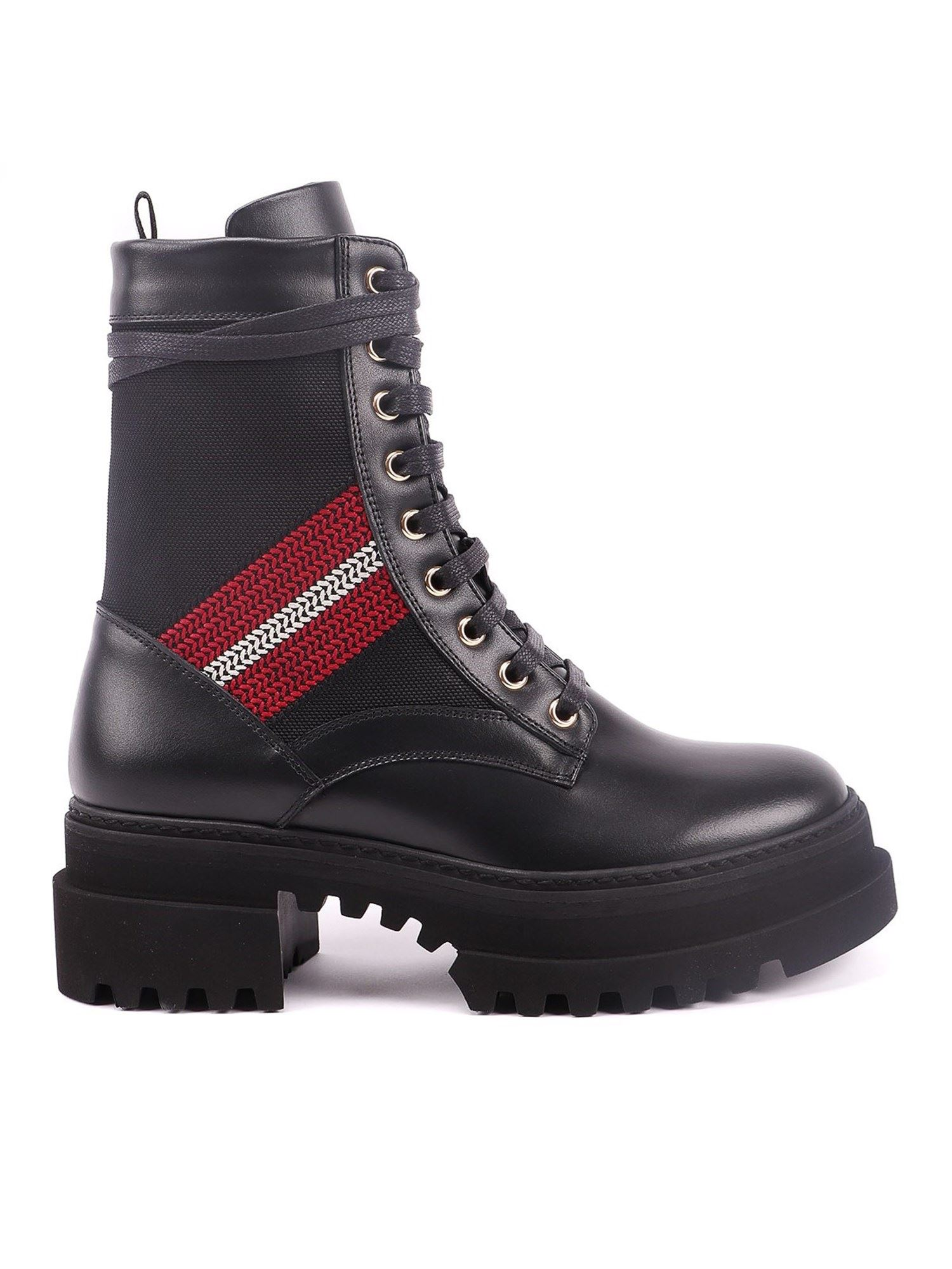 BALLY BLACK GIOIS COMBAT BOOTS