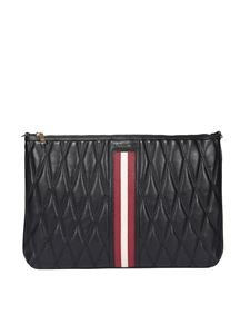 Bally - Dylla quilted leather clutch in black