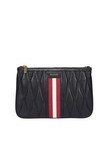 Bally - Drice quilted leather clutch in black