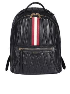Bally - Daffi quilted leather backpack in black