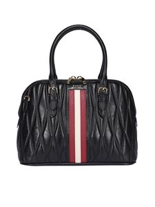 Bally - Dadye quilted leather bag in black