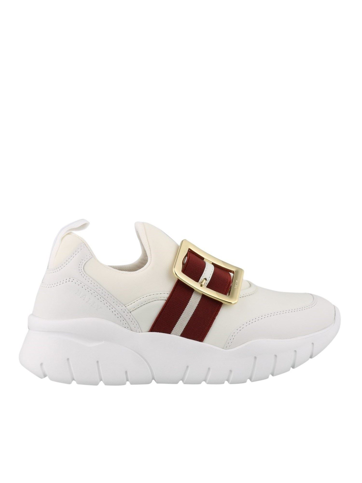 BALLY WHITE BRINELLE SNEAKERS
