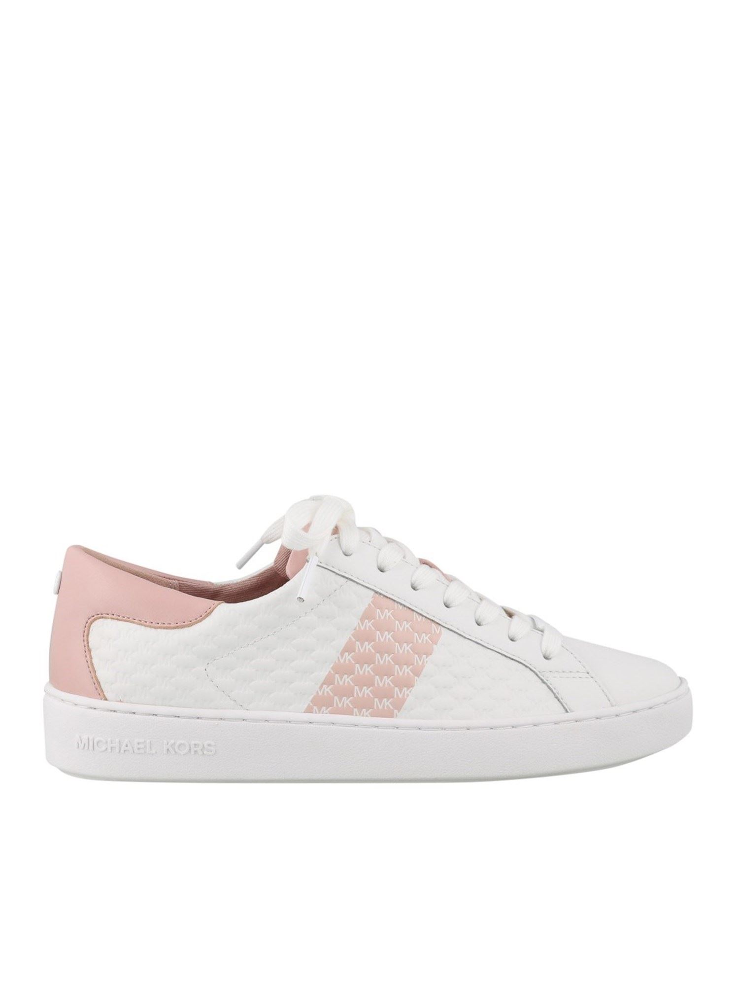 Michael Kors COLBY SNEAKERS IN WHITE AND PINK