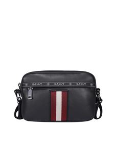 Bally - Hal crossbody bag in black leather