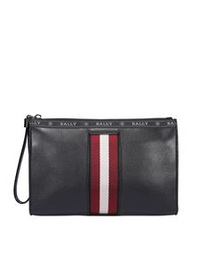 Bally - Bustina Haig in pelle nera