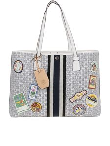 Tory Burch - Multicolor Gemini Link canvas tote with patches