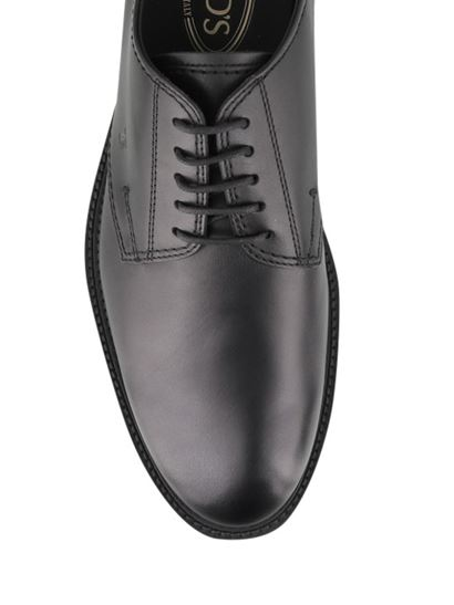Tod's - Smooth leather Derby shoes in black