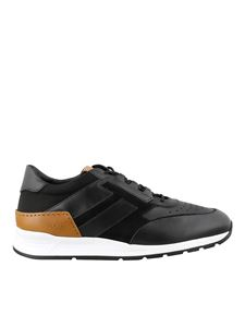 Tod's - Leather and suede sneakers in black