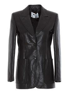 MSGM - Faux leather jacket in black